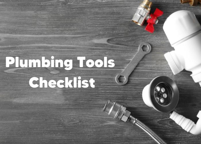 plumbing tools checklist